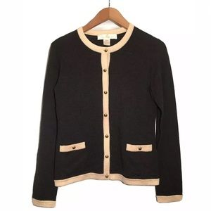 Coach Merino Wool Cardigan Sweater